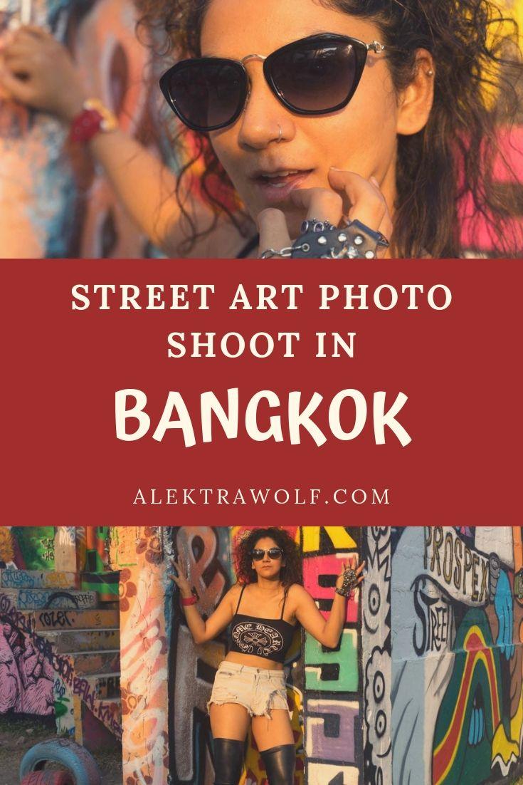 Bangkok street art modelling